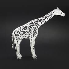 printing creative giraffe home decor
