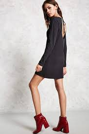 black cut out dress black cutout dress forever21