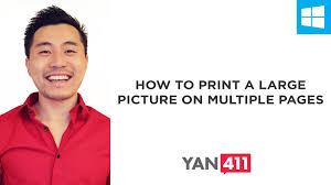 how to print a large picture on multiple pages youtube