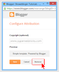 blogger com how to hide or remove powered by blogger attribution gadget