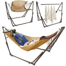 high grade portable folding hammock stand adjustable camping beach