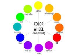 what color is orange color wheel art showme