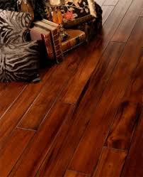 scraped and distressed hardwood flooring