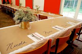 wedding table covers kraft paper table covering ideas the bright ideas