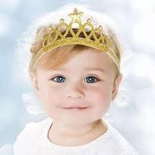hair accessories for babies soft crown baby girl headband in gold or silver color gaia spot