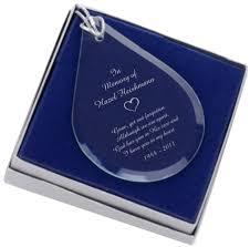 yet not forgotten memorial glass teardrop ornament