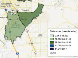 elk grove ca map how bad is pollution in elk grove see what state figures say