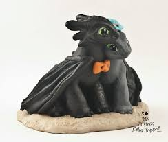 toothless cake topper toothless nightfuries wedding cake topper and groom