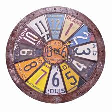 charming plate wall clock 127 paper plate wall clock wilco home
