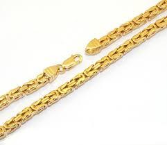 byzantine gold necklace images Mens 22 inch 9ct yellow gold flat byzantine chain newburysonline jpg