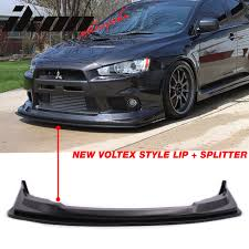 mitsubishi lancer drawing fits 08 15 mitsubishi lancer evolution x v style front bumper lip