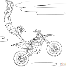 freestyle motocross coloring page free printable coloring pages