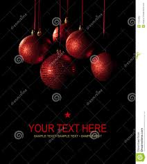 black christmas cards christmas card balls on black background stock image image