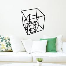 geometric home decor geometric shapes vinyl decal creative wall stickers home decor