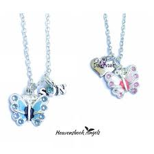 and granddaughter necklace flutterbye necklace heavensbook memorial sympathy gifts
