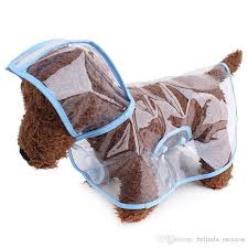 Discount Waterproof Pet Dog Clothes Clear Transparent Dog Raincoat