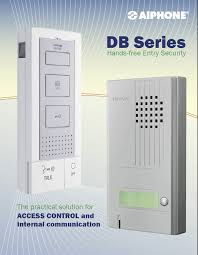 aiphone db series intercom access control system