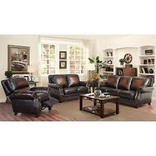 abbyson living bradford faux leather reclining sofa abbyson living living room costco