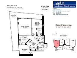 2 bedroom condo floor plans grand venetian condos for sale south beach