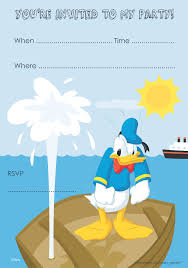 donald duck birthday invitation free printable free pretty