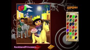 dora paint and color games online dora painting games dora