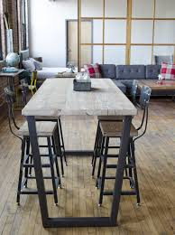 High Bistro Table Reclaimed High Top Table Standing Height Bistro Table Restaurant