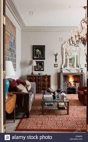 A Study With Walls In by Large Antique Cuenca Rug From Shahbaz Afridi In Study With Antique