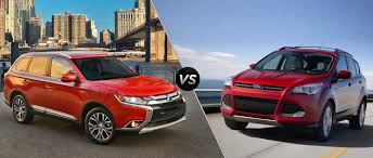 mitsubishi suv 2016 mitsubishi outlander vs 2016 ford escape
