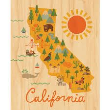 california map california map petit collage