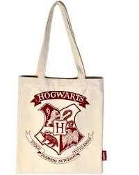 harry potter hogwarts crest colour shopping bag merch