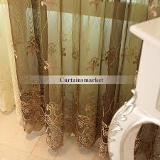 Sheer Shower Curtains Embroidered Sheer Curtains Are Great Choice For European Bedroom