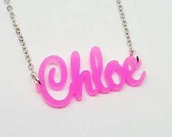Acrylic Name Necklace Acrylic Name