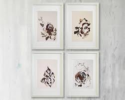 set of 4 artworks wall art set dining room wall art dried