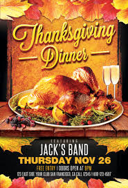 thanksgiving flyers flyer templates for and events