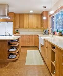 Bamboo Cabinets Kitchen Retro Bamboo Kitchen Galley Redecorating Floridian