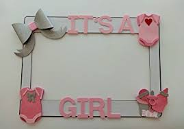 1 frame with baby shower embellisments mdf and glitter