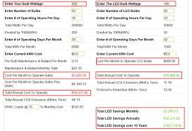 led light energy calculator roi calculator for led lighting and 100w equivalent to 400w metal