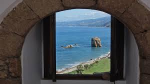 Antike Schlafzimmerm El Antiker Wachturm Auf Dem Meer In Sizilien