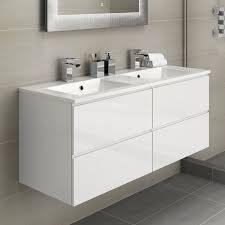 Slimline Vanity Units Bathroom Furniture Duravit Vanity Unit Grey Gloss Bathroom Cabinet Ebay Toilet And