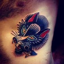 wolf and dead bird traditional traditional tattoos