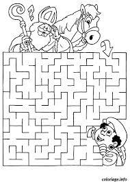 Coloriage labyrinthe jeux cheval  JeColoriecom