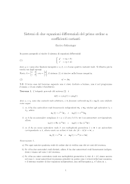 geometria differenziale dispense sistemi equazioni differenziali docsity