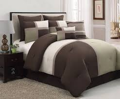 8 pc sage brown beige bed in a bag micro suede queen size