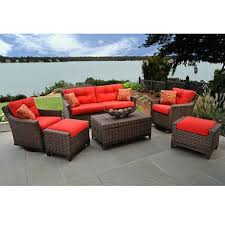 Milano Patio Furniture Atlantic Milano 10 Piece Patio Furniture Set Circular Patio