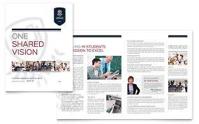 school brochure design templates high school brochure template design