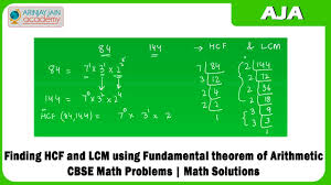 finding hcf and lcm using fundamental theorem of arithmetic cbse
