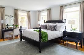 Bedroom Bed In Front Of Window Connecticut Country House For All Seasons Chango And Co Hgtv