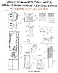 dgaa056bdta coleman gas furnace parts u2013 hvacpartstore
