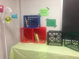 classroom library using crates instead of bookshelves classroom