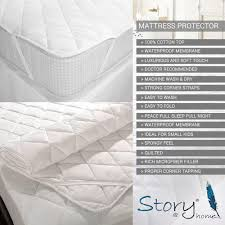 story home cotton waterproof mattress protector protectors
